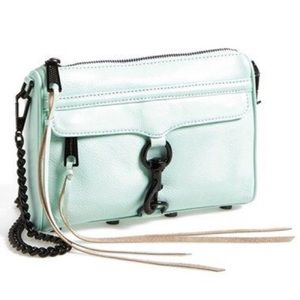 Rebecca Minkoff Mint Mini Mac In Mint Green